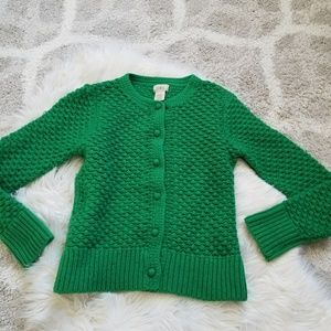 L.L.Bean Kelly green wool button up sweater